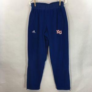 Adidas Kansas University Climawarm Fleece Pants. M
